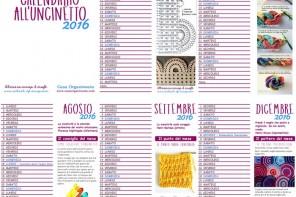 Calendario all'uncinetto 2016 PDF da stampare e auguri di buone feste a tutti