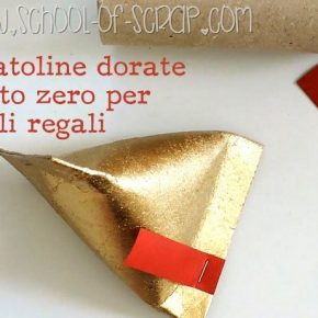 Natale in 1 minuto: come fare scatoline dorate per piccoli regali