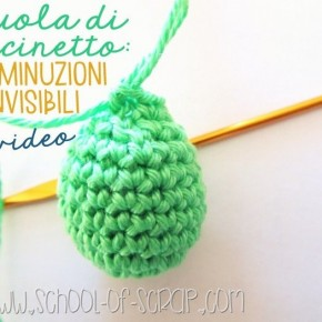 Scuola di Uncinetto: diminuzioni invisibili a maglia bassa video tutorial