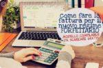 Blogger per Lavoro con Passione: fac-simile fattura nuovo regime forfettario