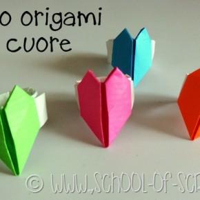 San Valentino in un minuto: l'anello origami con il cuore