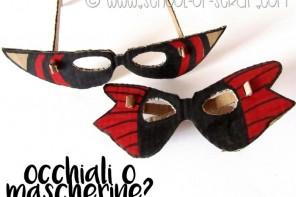 Carnevale in un minuto: gli occhiali-mascherina di cartone riciclato