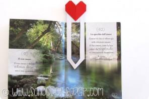 Origami e san valentino: il segnalibro con il cuore