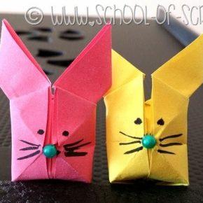 Origami in un minuto: il coniglietto da soffiare