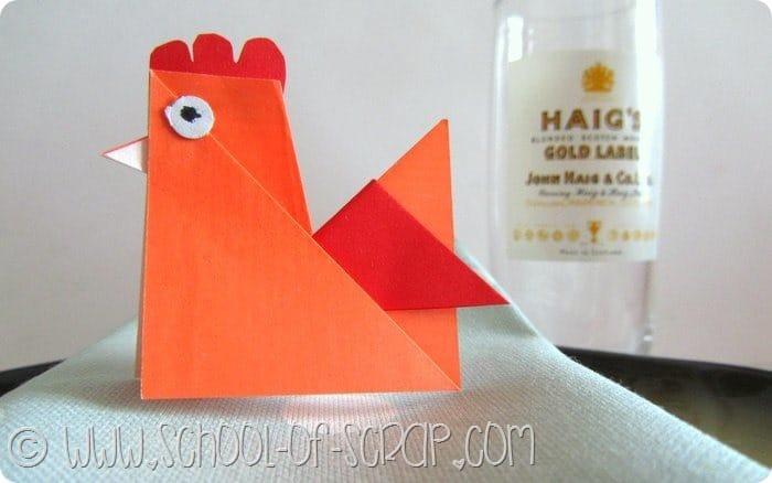 Origami in 1 minuto: Galletto segnaposto per la tavola di Pasqua