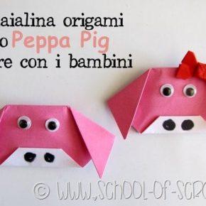 Lavoretti: come fare la maialina Peppa Pig origami con i bambini