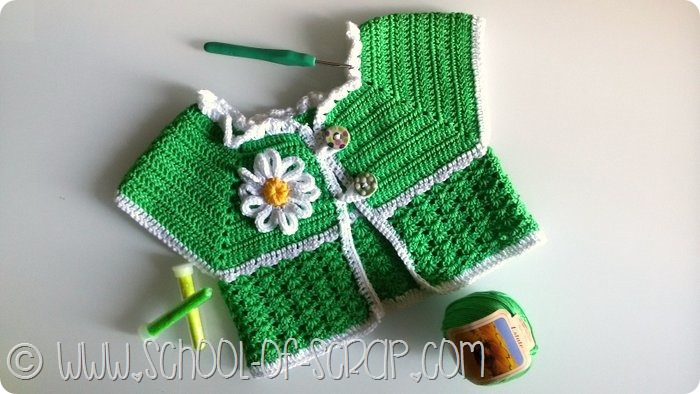 Guest Post: come fare un gilet o un vestitino all'uncinetto per bambini e neonati