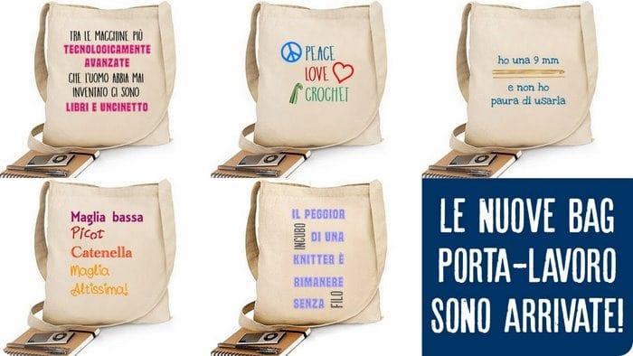 borse e T-shirt dedicate a chi ama l'uncinetto si comprano online (con lo sconto)