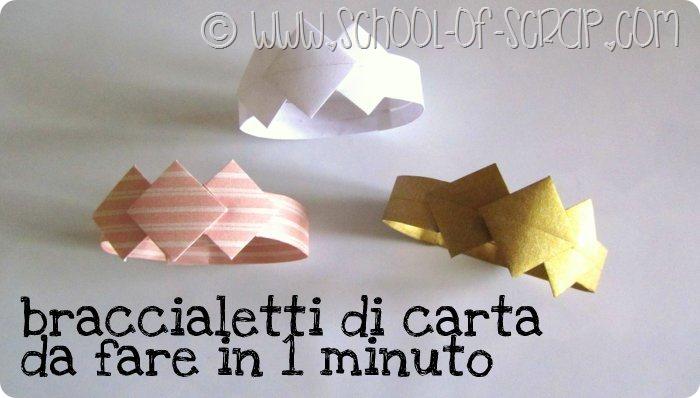 Bijoux origami: il braccialetto di carta da fare in 1 minuto