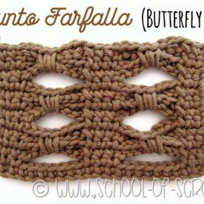 Scuola di Uncinetto: lo schema del Punto Farfalla o Butterfly Stitch