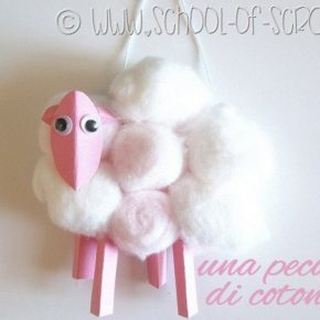 Lavoretti con i bambini: la pecorella di cotone #LoveMyCotton