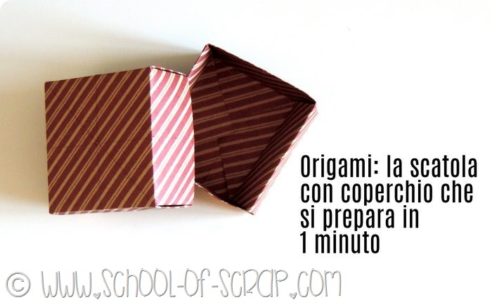 Amato Origami: la scatolina fai da te con il coperchio da costruire in 1  ZA06