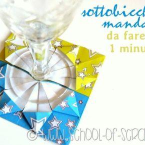 Origami: i sottobicchieri mandala da fare in 1 minuto