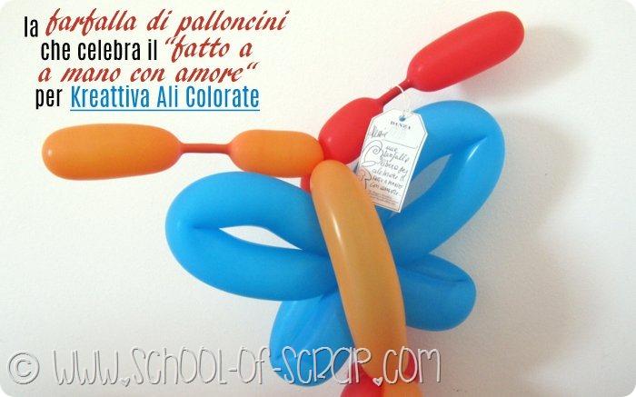 Lavoretti con i bambini: come si fa la farfalla di palloncini