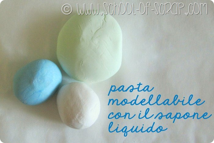 come fare la pasta modellabile con il sapone liquido