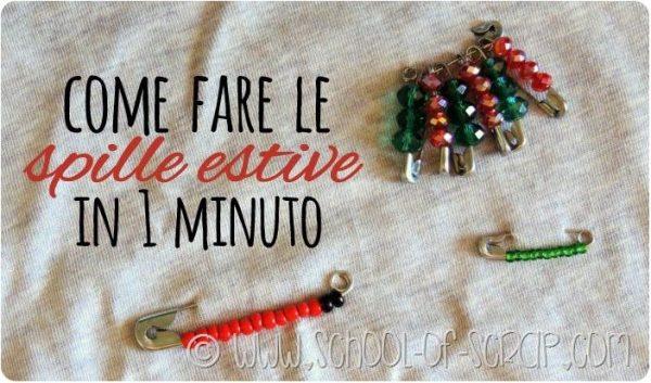 bijoux DIY come fare spillette con le perline in 1 minuto