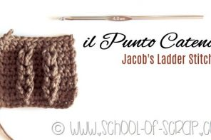 Scuola di Uncinetto: il punto Catena o Jacob's Ladder Stitch
