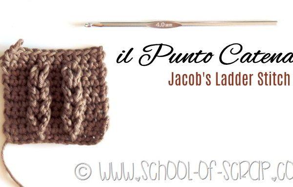 Scuola di Uncinetto: il punto Catena o Jacob's Ladder Stitch