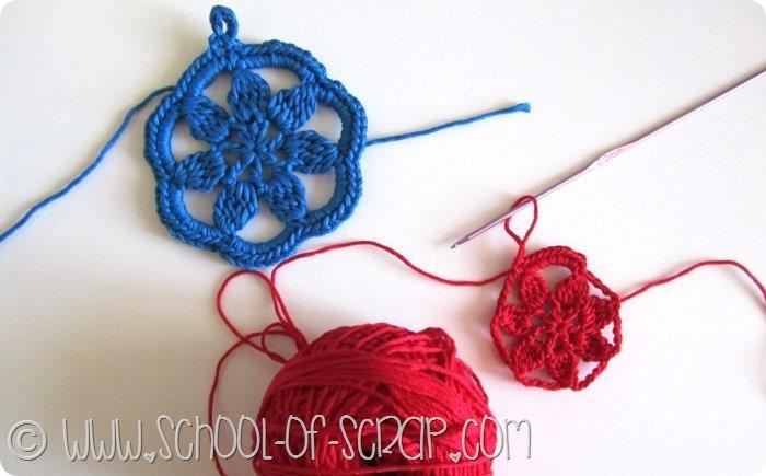 Scuola di Uncinetto: tutorial + schema degli orecchini a fiore