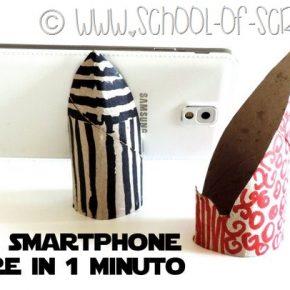 Riciclo creativo: come fare lo stand per smartphone con un tubo di cartone