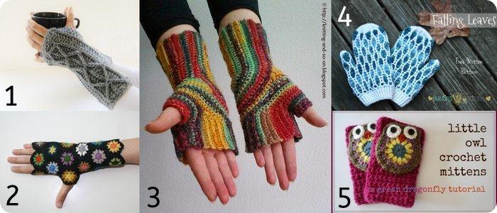Raccolta di Idee: 10 tutorial per guanti strepitosi da fare a crochet