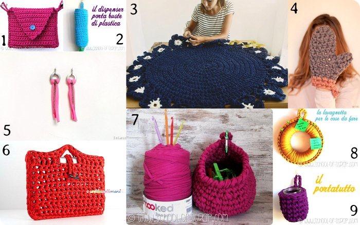 161 Idee Crochet Da Realizzare Con Fettuccia Zpagetti Filato