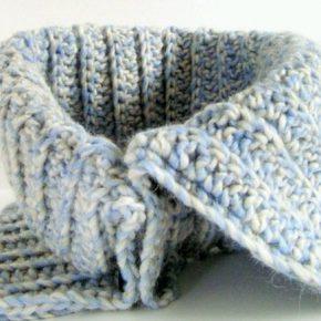 Pattern spiegazione in PDF per SCALDACOLLO UNISEX, da fare a crochet.