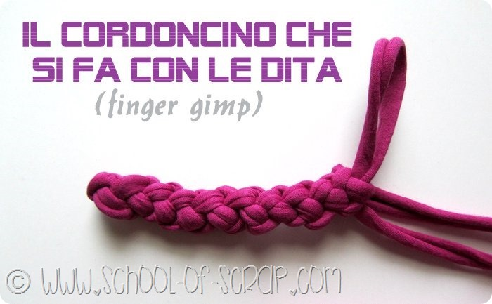 Fingers Cord: come fare il cordoncino con le dita video tutorial
