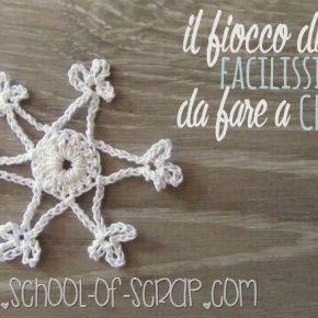 Scuola di uncinetto: il fiocco di neve facilissimo da fare a crochet