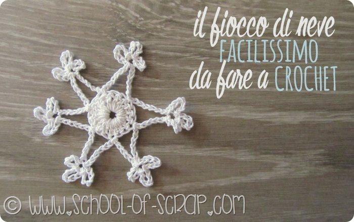 Fiocchi Di Neve Di Carta Facili : Scuola di uncinetto il fiocco di neve facilissimo da fare a