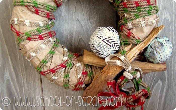 Aspettando il Natale: la ghirlanda fuoriporta in stile country