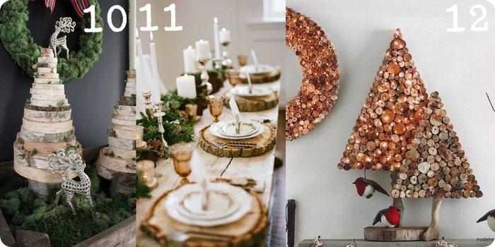 Raccolta di idee 15 progetti per casa e tavola di natale for Dischi di legno