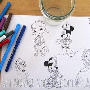 Lavoretti per bambini: le palle di neve natalizie con i personaggi Disney