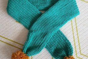 Come fare una sciarpa in un'ora con la maglieria magica o il mulinetto