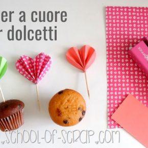 {DIY} Cake topper fai da te a forma di cuore per dolci e dolcetti