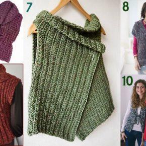 Raccolta di idee: 10 progetti per fare gilet invernali a maglia e uncinetto