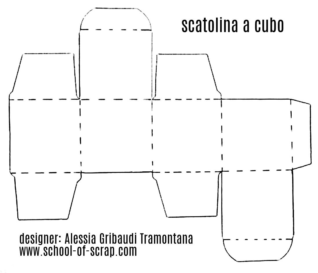 Estremamente Scatolina fai da te a cubo, velocissima - Alessia, scrap & craft  OD82