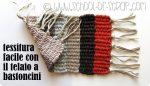 Idee creative con il telaio: tessitura facile con il telaio a bastoncini