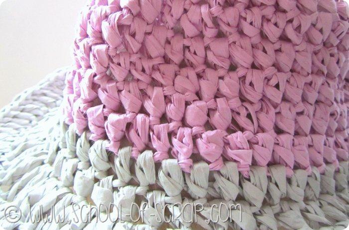 scuola di uncinetto: tutorial cappello Borsalino fatto con il filato di carta