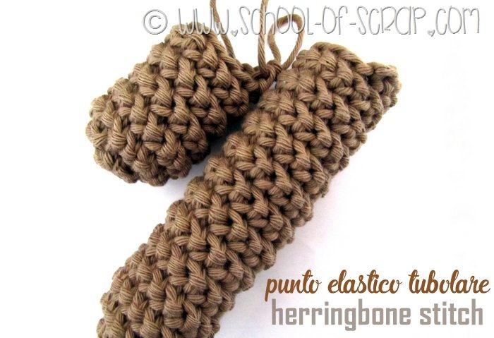 Scuola di Uncinetto punto elastico tubolare o Herringbone Stitch