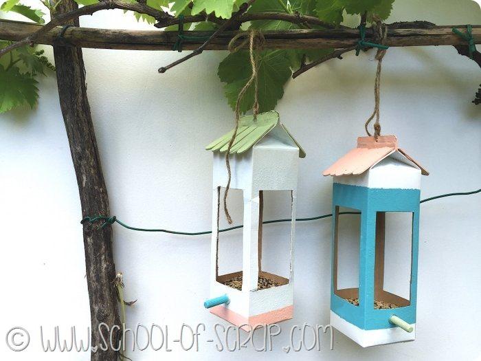 Guest post: come fare mangiatoie per uccellini riciclando i cartoni del latte