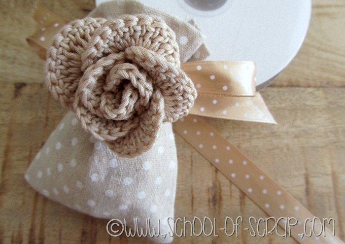 Tutorial Bomboniera Shabby Con La Rosa A Crochet A Cerchi
