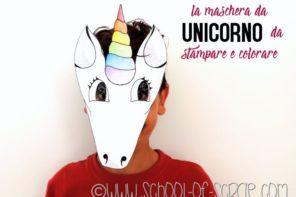 Free Printable: maschera da unicorno da stampare e colorare