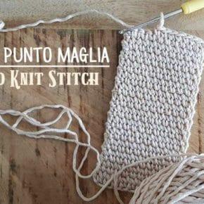 Scuola di Uncinetto: come si fa il punto maglia o Knit Stitch