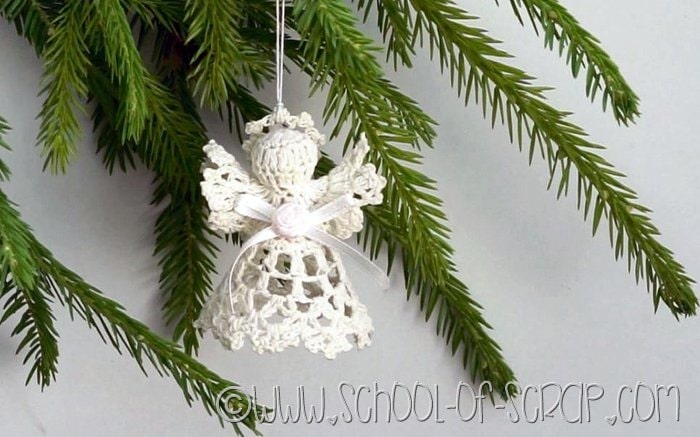 Angelo Amigurumi Tutorial Natale 👼🏻 Angel Crochet Christmas - Angelito  Crochet - YouTube | 437x700