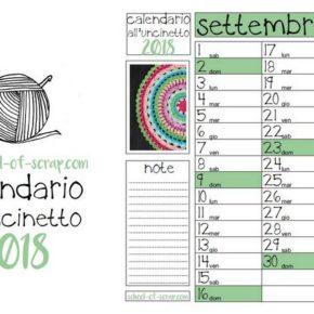 Calendario all'uncinetto 2018 pdf da scaricare e stampare e buon anno a tutti