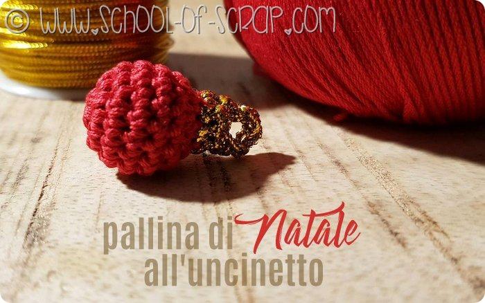Scuola di Uncinetto come fare le palle di Natale a crochet