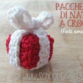 Scuola di Uncinetto: palline di Natale fai da te a forma di pacchetto regalo
