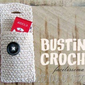 Scuola di Uncinetto: bustina crochet porta-tutto facilissima