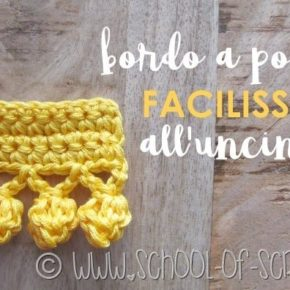 Video tutorial: bordo a pompon facilissimo all'uncinetto